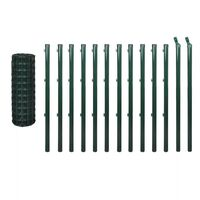 Euro Wire PVC Coated Fence Mesh in Green 25x1m
