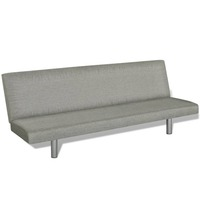 Adjustable 2 Seater Fabric Sofa Bed in Dark Grey