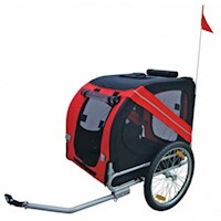 Rex Waterproof Pet Dog Bicycle Bike Trailer in Red