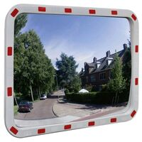 Outdoor Convex Traffic Mirror w/ Reflectors 60x80cm