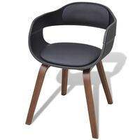 Maresha Faux Leather Dining Chair w Armrests Black