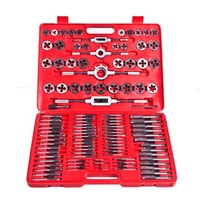 111pc Tap and Die Hand Tool Kit with Storage Case