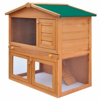 2 Layer Outdoor Wooden Rabbit Hutch Animal House