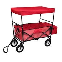Foldable Garden Cart Hand Trolley Dolly with Roof