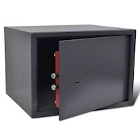 Short Gun Safe Steel Firearm Cabinet in Dark Grey