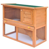 Outdoor Small Wooden Rabbit Hutch Animal House 90cm