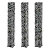 3pc Galvanised Steel Gabion Wall Wire Basket 197cm