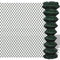 Green Chain Wire Mesh Fence w/ PVC Coating 1.5x15m