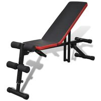 Home Gym Adjustable Exercise Sit Up Weight Bench