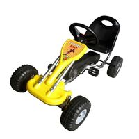 Kids Ride On Car Push and Pedal Go Kart in Yellow