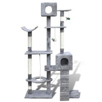 2 Condo Cat Scratching Post Tree in Grey 175cm