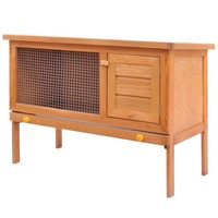 1 Layer Outdoor Wooden Rabbit Hutch Animal House