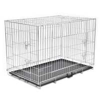 4 Door Folding Steel Dog Carrier Transport Cage XXL
