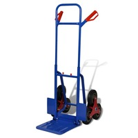 Steel Hand Trolley Sack Truck with 6 Wheels 200kg
