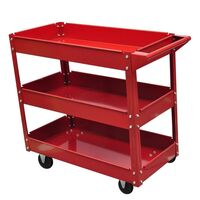 Steel Workshop Tool Trolley with 3 Shelves 100kg