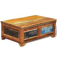 Vintage Reclaimed Solid Wood Chest & Coffee Table