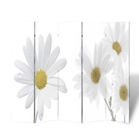 5 Panel Dual Sided Room Divider - Flowers 200x180cm