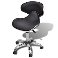 Contour Faux Leather Gas Lift Office Chair in Black