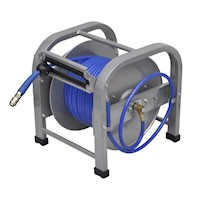 Automatic Retractable Air Hose Reel Blue 250PSI 30m