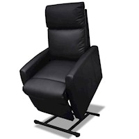 Electric Faux Leather Recliner Lift Chair in Black