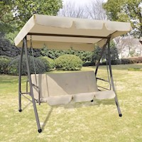 Canopy Outdoor Swing Chair 2 Person Sunbed in Sand