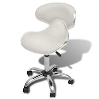 Contour Faux Leather Gas Lift Office Chair in White