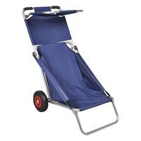 3 in 1 Portable Beach Trolley, Table or Chair Blue