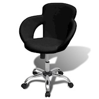 Professional Swivel Office Chair w Armrests - Black