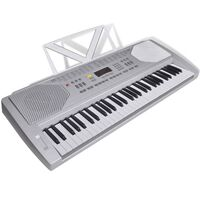 Electric LED Piano Keyboard w/ Music Stand 61 Keys