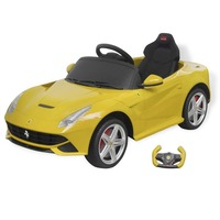 Kids Electric Ride On Car Ferrari F12 w RC - Yellow