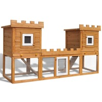 Double Storey Pet Rabbit Hutch Small Animal House
