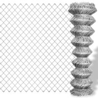 Galvanised Steel Chain Wire Mesh Fence 25x1.5m
