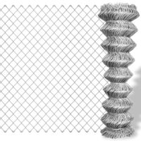 Galvanised Steel Chain Link Wire Mesh Fence 15x1.5m