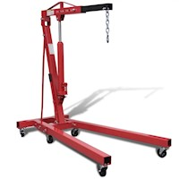 Hydraulic Workshop Crane Lift w Chain & Hook 2000kg