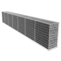 Galvanised Steel Wire Gabion Wall w Cover 600x100cm