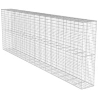 Galvanised Steel Wire Gabion Wall w Cover 600x200cm