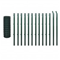 Euro Wire PVC Coated Fence Mesh in Green 25x1.5m