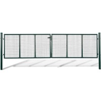 Galvanised Steel Mesh Garden Gate Green 415x150cm