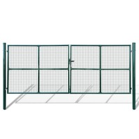 Green Galvanised Steel Mesh Garden Gate 415x200cm