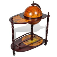 Large Vintage Globe Wine Rack Trolley Glass Holder