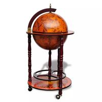 Small Vintage Globe Wine Rack Trolley Glass Holder