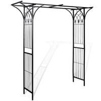 Outdoor Weather Resistant Iron Garden Arch in Black