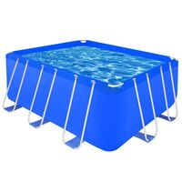 Rectangle Above Ground Swimming Pool 400x207x122cm