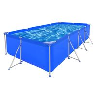 Rectangle Above Ground Swimming Pool 394x207x80cm
