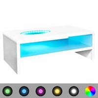 LED Light Coffee Table in High Gloss White 42cm