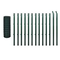 Euro Wire PVC Coated Fence Mesh in Green 25x0.8m