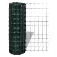 Euro PC & Wire Mesh Fence in Green 25 x 1.5m