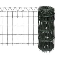 Expandable Iron Wire Garden Fence in Green 25x0.65m