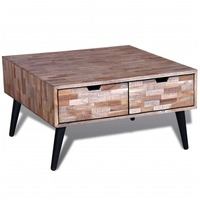 Reclaimed Teak Wood Coffee Table w/ 4 Drawers 72cm
