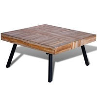 Reclaimed Teak Wood Square Coffee Table 80cm